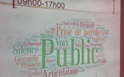 Prise de parole en public avec les étudiants de l'Itiri